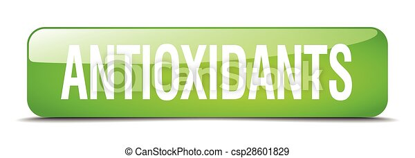 antioxidants green square 3d realistic isolated web button - csp28601829