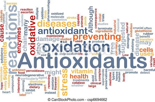 Antioxidants health background concept - csp6694662