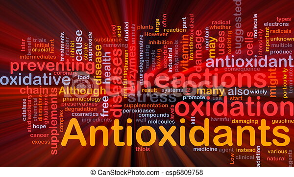 Antioxidants health background concept glowing - csp6809758