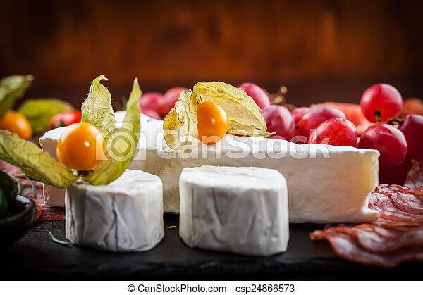 Antipasto dinner platter  - csp24866573