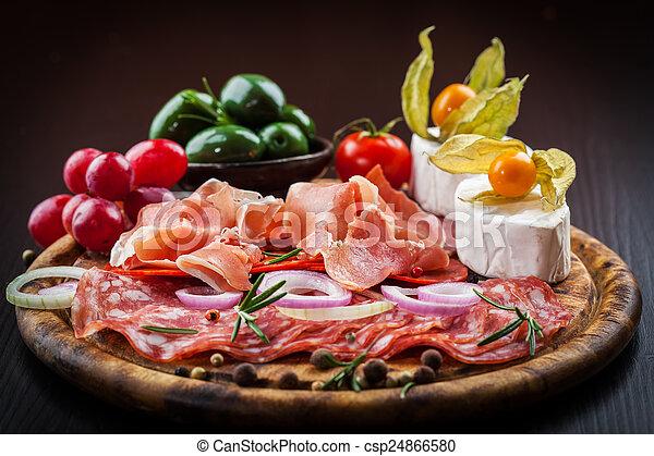 Antipasto dinner platter  - csp24866580