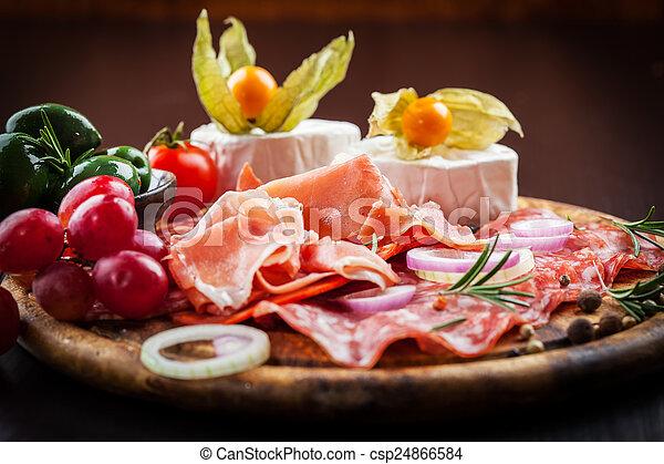 Antipasto dinner platter  - csp24866584