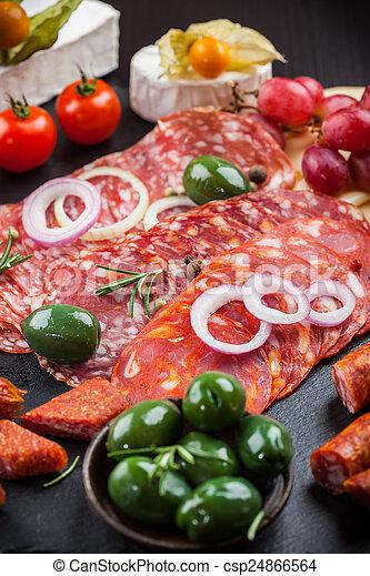 Antipasto dinner platter  - csp24866564