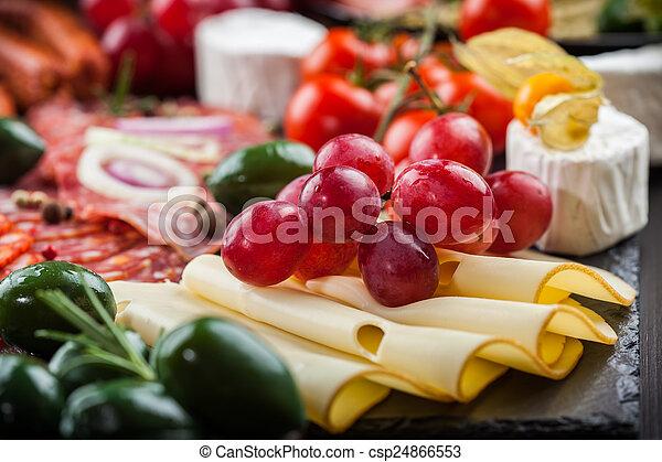 Antipasto dinner platter  - csp24866553