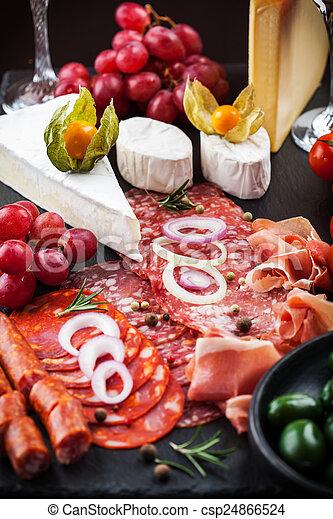 Antipasto dinner platter  - csp24866524