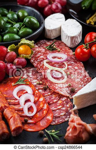 Antipasto dinner platter  - csp24866544