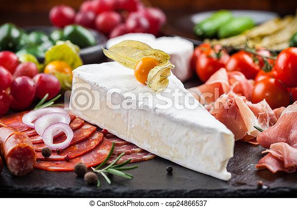 Antipasto dinner platter  - csp24866537