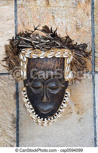 antique African mask - csp0594099