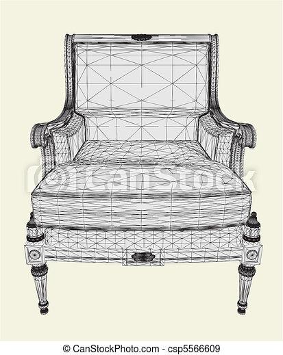 Antique Armchair - csp5566609