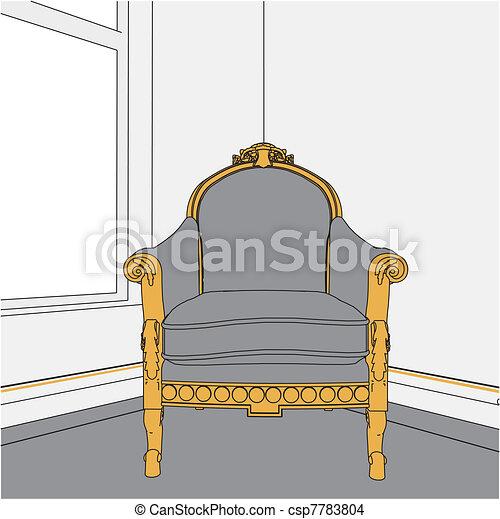 Antique Armchair  - csp7783804