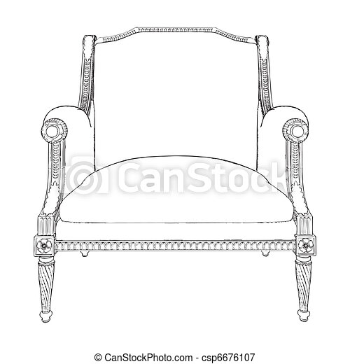 Antique Armchair  - csp6676107