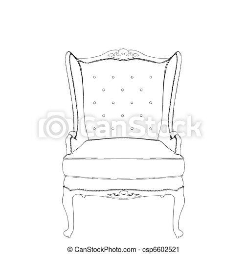 Antique Armchair  - csp6602521