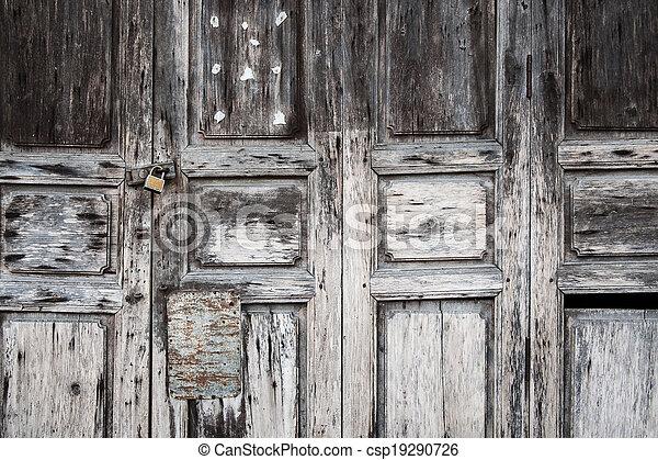 Antique asian door, abstract, texture, background - csp19290726 - Antique Asian Door, Abstract, Texture, Background. Old Asian Door