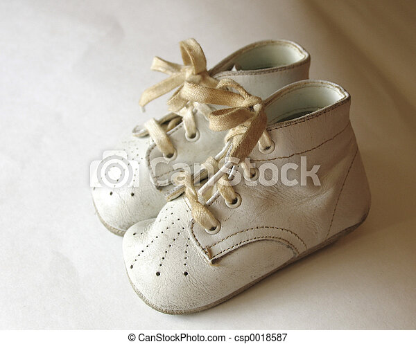 antique baby shoes - csp0018587