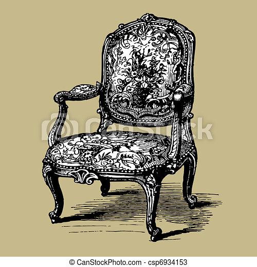 Antique Baroque Armchair   Csp6934153