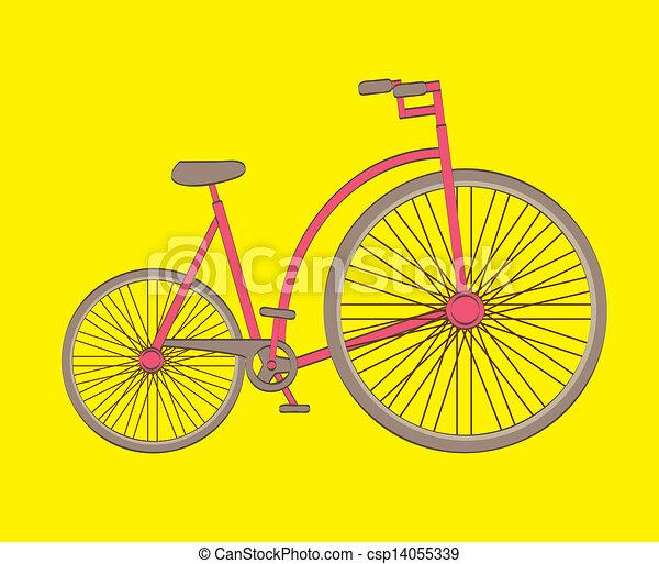 antique bicycle - csp14055339