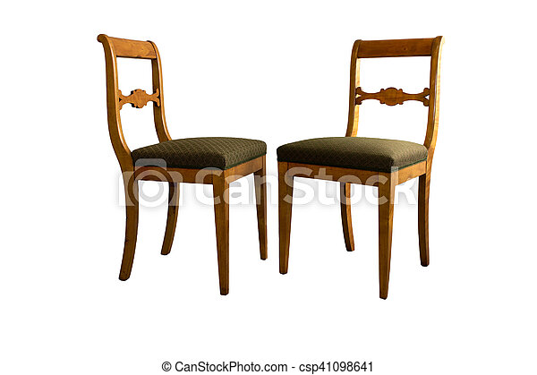 Bon Antique Biedermeier Chair With And Woor Carving   Csp41098641