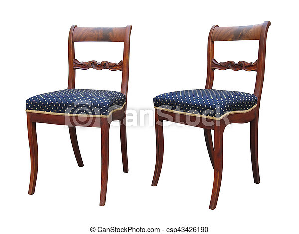 Charmant Antique Biedermeier Chair With Woor Carving   Csp43426190