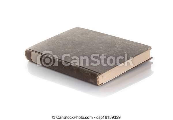 antique book isolated on a white background - csp16159339