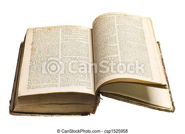 Antique book isolated - csp1525958
