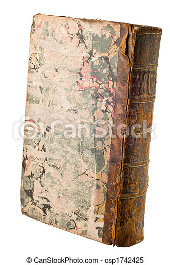 Antique book isolated - csp1742425