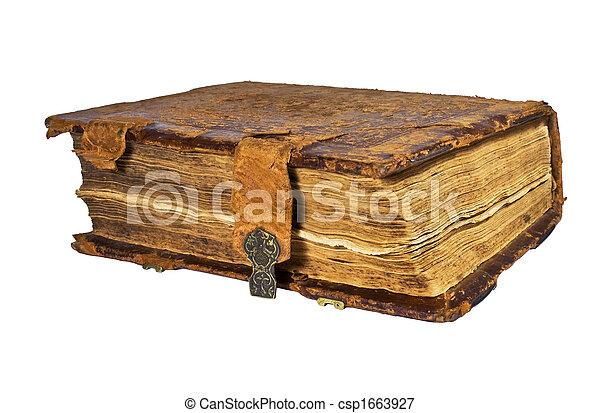 antique book - csp1663927
