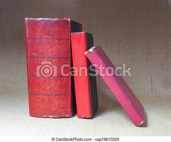 antique books. - csp19610324