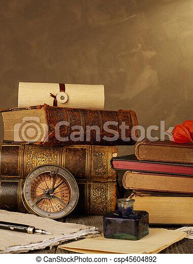 Antique books - csp45604892