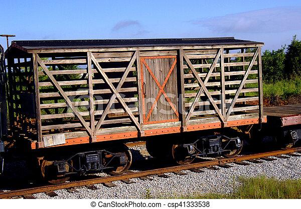 Antique Box Car - csp41333538