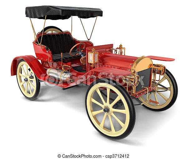 Antique Car 1910 - csp3712412