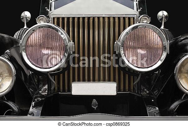 Antique car headlamps - csp0869325