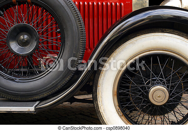 Antique car wheels - csp0898040