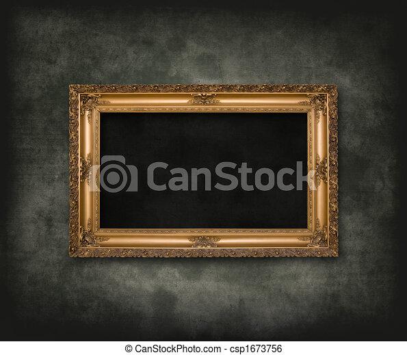 Antique carved frame - csp1673756