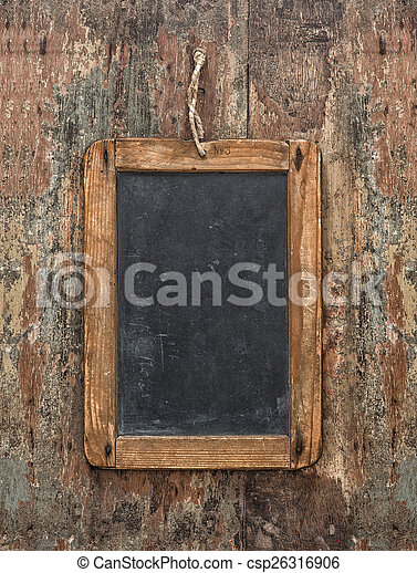 Antique Chalkboard On Wooden Texture Rustic Background
