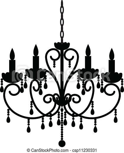 Silhouette of antique chandelier vectors search clip art antique chandelier vector aloadofball Images