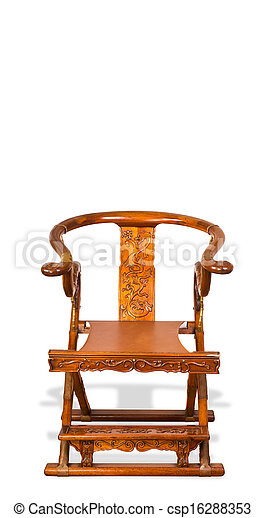 Antique Chinese Folding Chair. - csp16288353