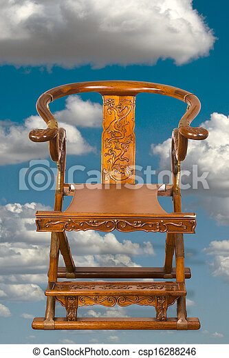 Antique Chinese Folding Chair. - csp16288246