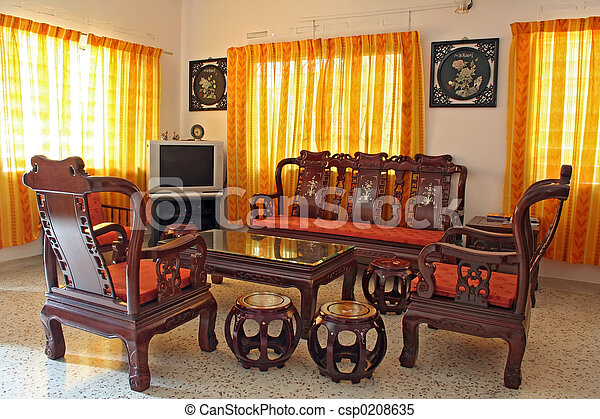 Antique Chinese Rosewood Furniture Stock Image Csp0208635