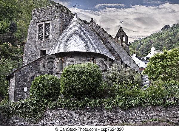 Antique church - csp7624820