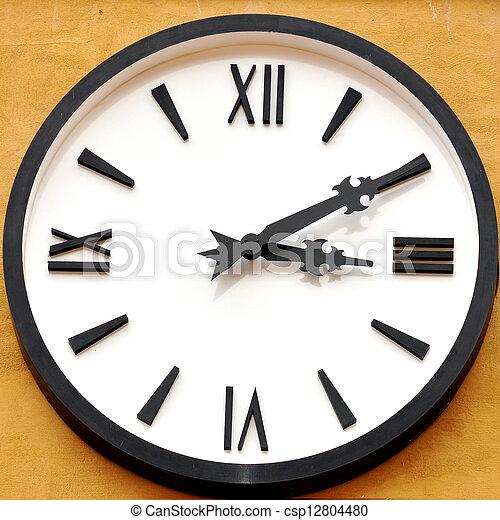 Antique clock face - csp12804480