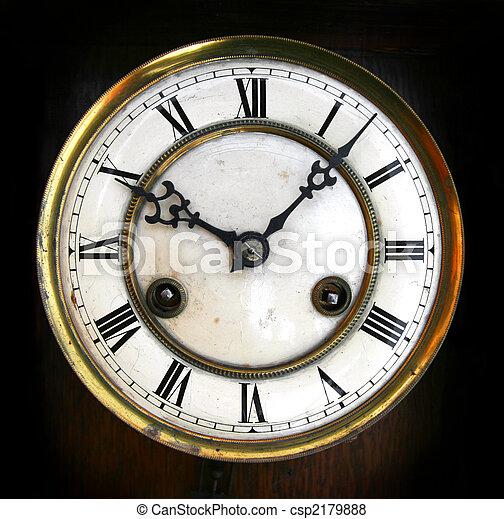 Antique clock face - csp2179888