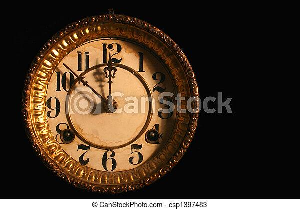 antique clock face antique clockface on black the time is ten