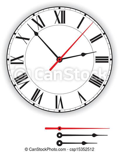 Antique Clock Face - csp15352512