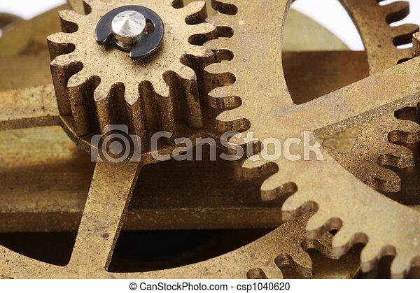 Antique Clock Gears Macro - csp1040620