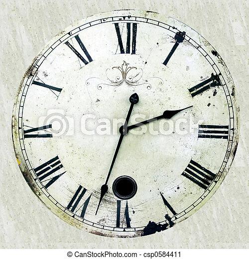 Antique clock - csp0584411