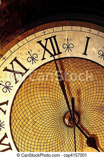 Antique clock - csp4157001