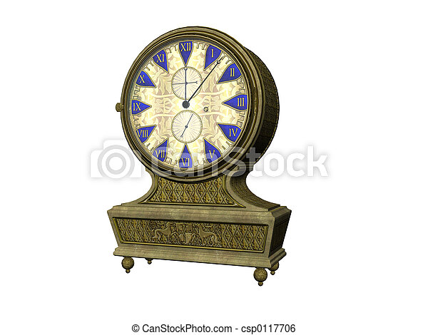 Antique Clock - csp0117706
