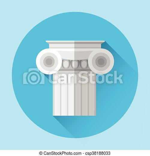 Antique Column Greek Architecture Icon - csp38188033