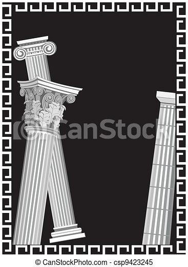 Antique Columns - csp9423245