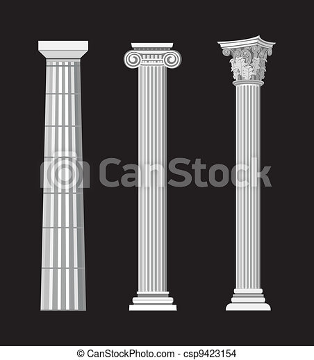 Antique Columns - csp9423154